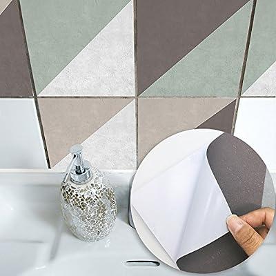 Amazon.com: Fymural Adhesivo decorativo para azulejos para ...