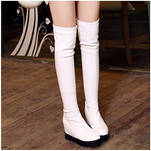 Pull KemeKiss Boots Women On White qqS6U4