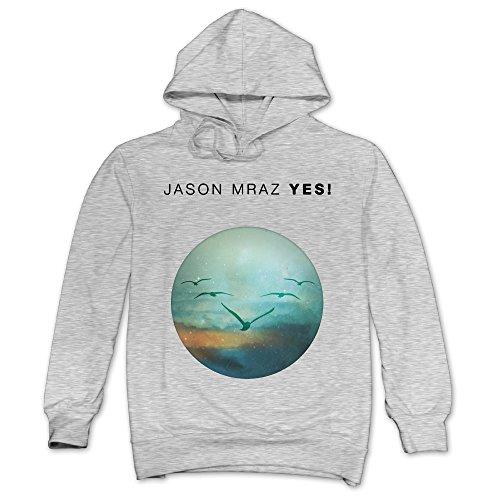 XJBD Men's Jason Mraz Unique Sweatshirt Ash Size S