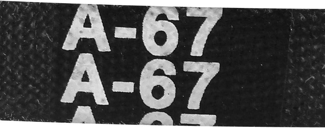 Sourcing map A-67 Courroie de transmission en V industrielle en caoutchouc 67 cm