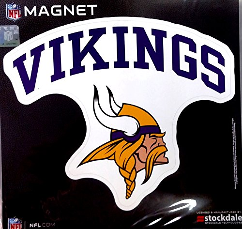 Minnesota Vikings ARCH Style Logo 12'' Magnet Heavy Duty Auto Home NFL Football by Stockdale