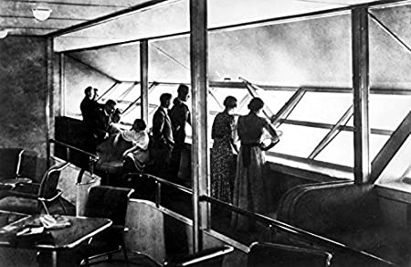 POSTER A3 Nederland Interieur luchtschip Hindenburg / Interior of ...