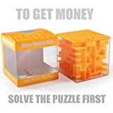 Trekbest Money Maze Puzzle Box - A Fun Unique Way to Give Gifts for Kids and Adults (Orange)