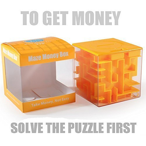 Maze Box (Trekbest Money Maze Puzzle Box - A Fun Unique Way to Give Gifts for Kids and Adults (Orange))