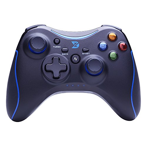 ZD N Full Vibration Feedback 2.4Ghz Wireless Controller Gamepad Joystick For PC(Windows XP/7/8/8.1/10) & PlayStation 3 & Android&Steam - Not support the Xbox 360/One[Blue]