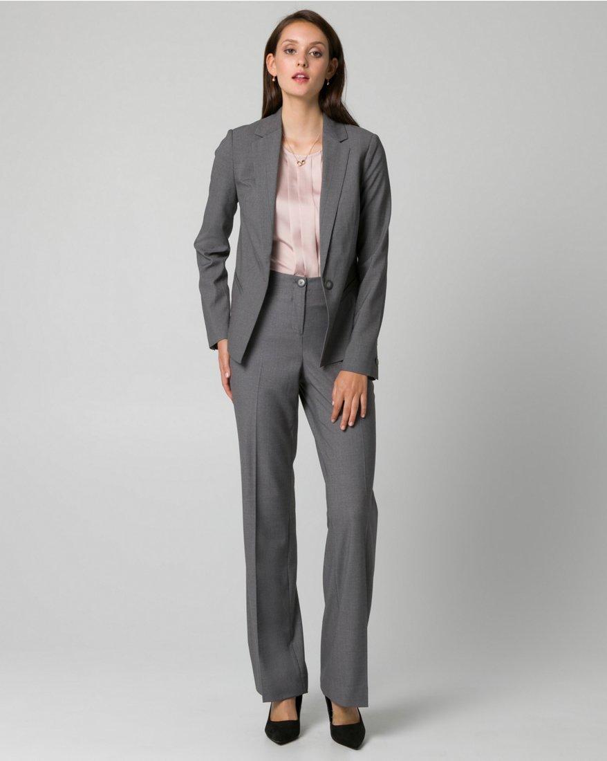 LE CHÂTEAU Women's Tailored Gabardine Flare Leg Pant,12,Medium Grey by LE CHÂTEAU (Image #4)