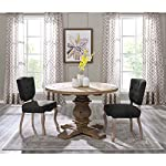 Wild Hen Round Pine Wood Dining Table - Brown Farmhouse