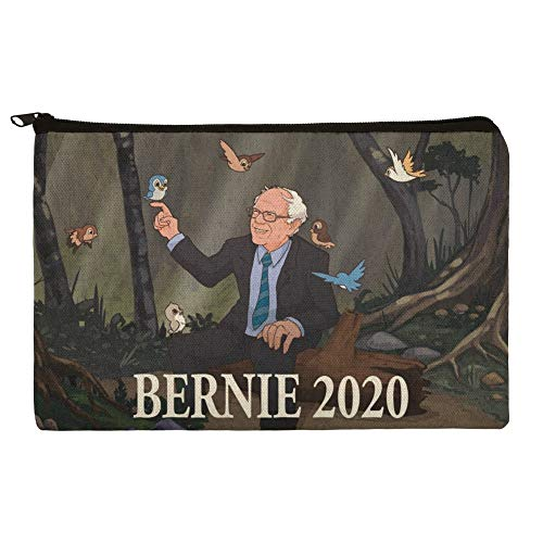 - Bernie Sanders 2020 with Birds In A Forest Retro Cartoon Makeup Cosmetic Bag Organizer Pouch