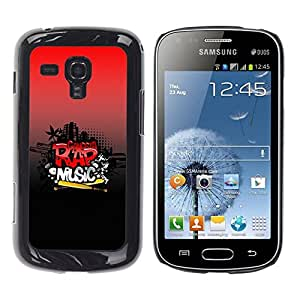 Be Good Phone Accessory // Dura Cáscara cubierta Protectora Caso Carcasa Funda de Protección para Samsung Galaxy S Duos S7562 // Rap Music