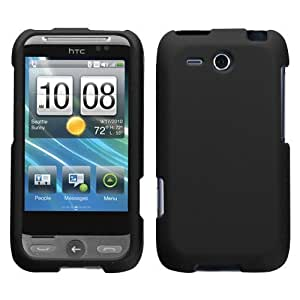 MyBat HTC Freestyle Rubberized Phone Protector Cover - Retail Packaging - Black