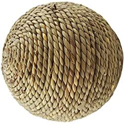 UEETEK Hand-woven Natural Grass Rope Ball Chew Toys for Rabbits Bunny Guinea Pigs Small Animals