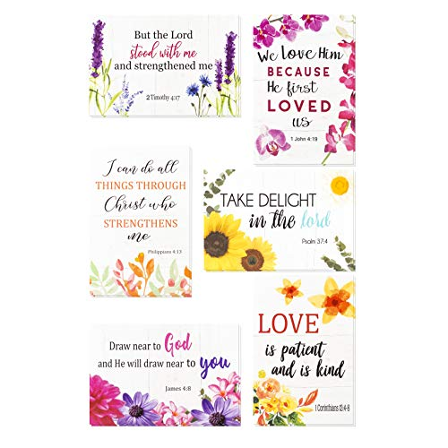 Christian Greeting Cards - 60 Inspirational Greeting Cards -Bible Verse Greeting Cards- Motivational Greeting Cards -Religious Greeting Cards- 60 Scripture Greeting Cards with 60 Envelopes, 4 x 6 Inch (Cards For Christmas Quotes Inspirational)