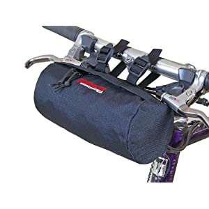 Bushwhacker Waco Black Bicycle Handlebar & Seat Bag Cycling Pack Bike Cylinder Saddle Bag Frame Rear Front Accessories