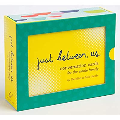 Just Between Us: Conversation Cards for The Whole Family (Conversation Starters, Family Therapy Cards, Family Dinner Games): Jacobs, Meredith: Toys & Games