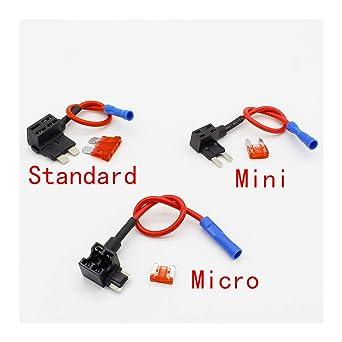 add a circuit standard/mini/micro blade fuse boxes holder piggy back fuses  tap, standard: amazon.com: industrial & scientific  amazon.com