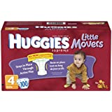 Huggies Little Movers Diapers, Size 4, 100-Count