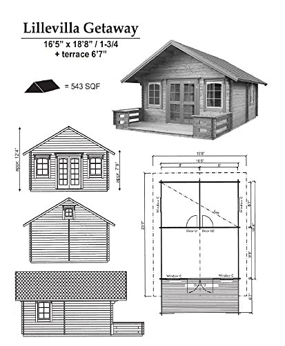 Lillevilla Allwood Kit Cabin Getaway (Getaway cabin kit)