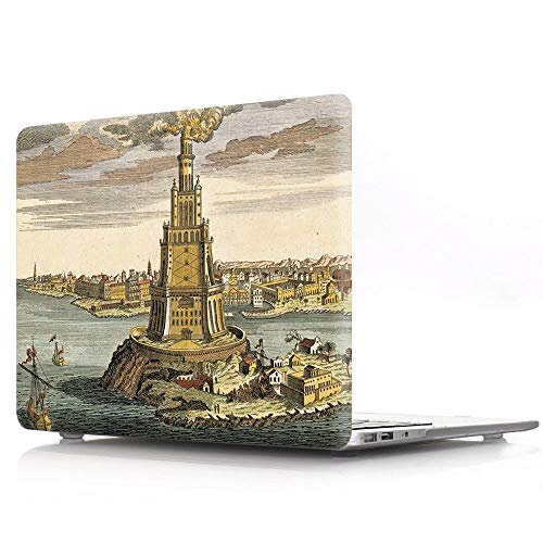 HRH The Lighthouse of Alexandria Design Laptop Body Shell Protective Hard Case for MacBook New Pro 13 inch with Touch bar A2159 A1706 A1989/No Touch bar A1708 A1988(2019 2018 2017 2016 Release) (Macbook Pro Case Lighthouse)
