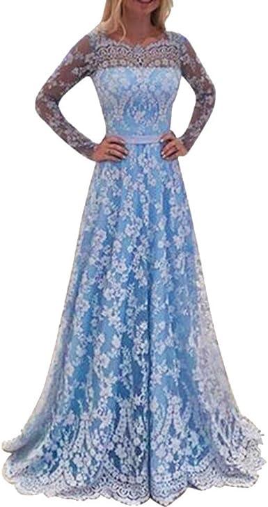 Vestiti Cerimonia Donna.Modaworld Vestiti Donna Eleganti Abito In Pizzo Cerimonia Donna