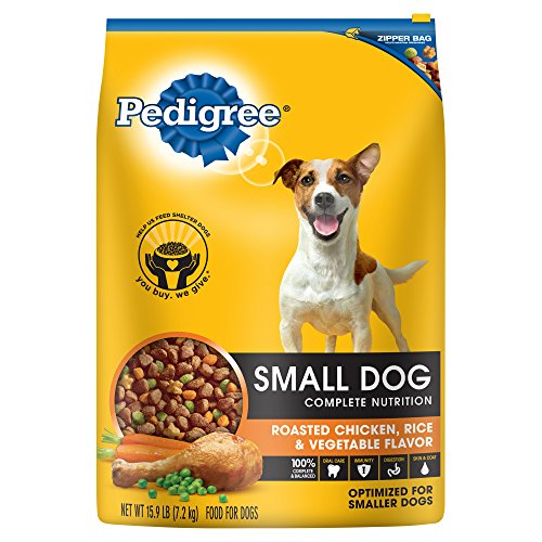 PEDIGREE Adult Small Dog Roasted Chicken, Rice & Vegetable Flavor Dry Dog Food 15.9 Pounds