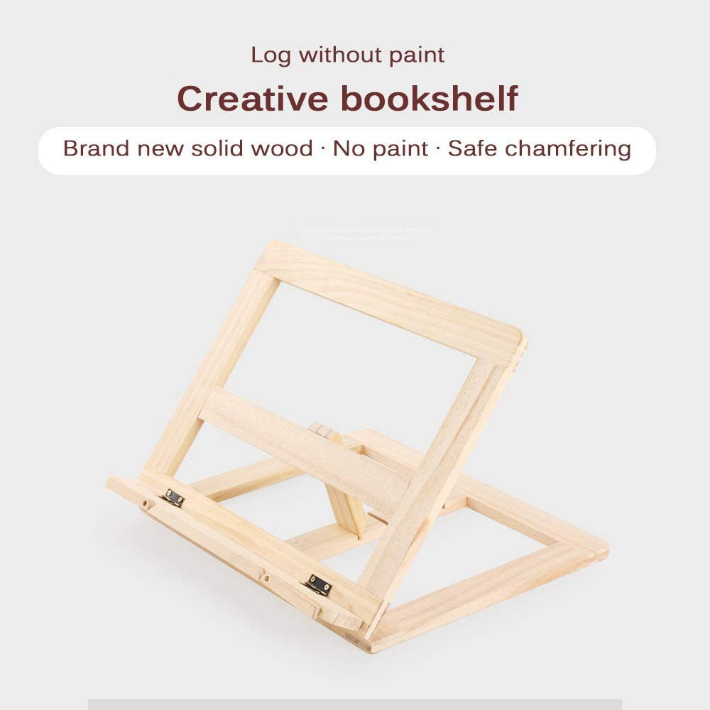 Verdelife Solid Wood Lesest/änder Sicherheit Fase Faltbares B/ücherregal Artefakt 360 Grad No Paint Anti Myopie Buchhalter St/änder Zur Korrektur Der Sitzgewohnheiten Von Kindern
