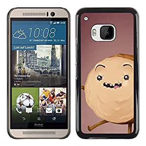 All Phone Most Case / Hard PC Metal piece Shell Slim Cover Protective Case Carcasa Funda Caso de protección para HTC One M9 cookie cake monster drawing brown