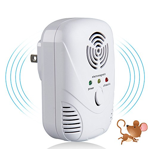 Easy Eagle Ultrasonic Electromagnetic Pest Repellent, Electronic Rats Repeller, Indoor Electric Pests Control for Rodents, Roaches, Bugs, Spiders, Mosquitoes, Moths, Ants