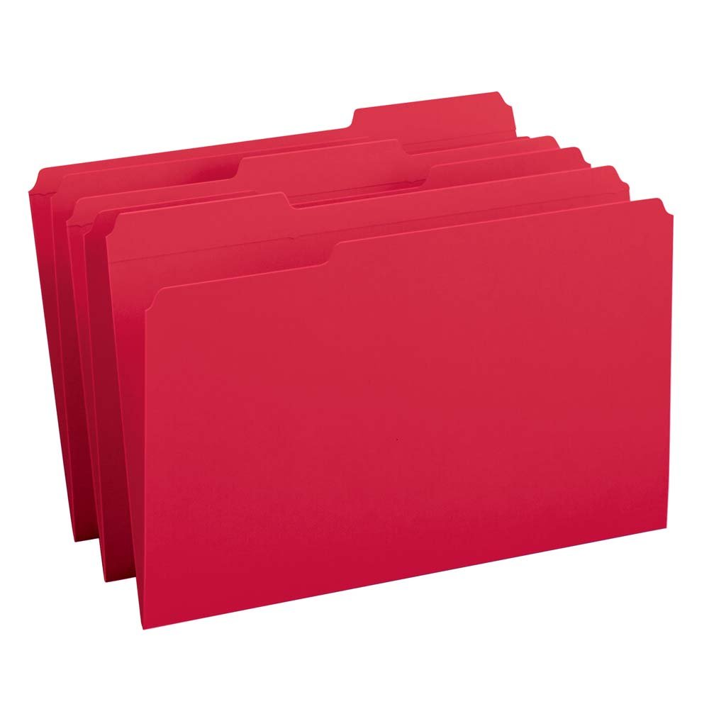 (1/3-Cut Legal Size, Red) - Smead File Folder, Reinforced 1/3-Cut Tab, Legal Size, Red, 100 per Box (17734) B00006IEVN 1/3-Cut Legal Size|レッド レッド 1/3-Cut Legal Size