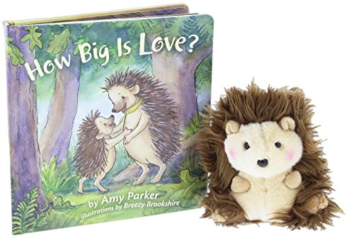 """Price comparison product image """"How Big is Love"""" Book Bundle with 5"""" Aurora Stuffed Animal Merry Hedgehog"""