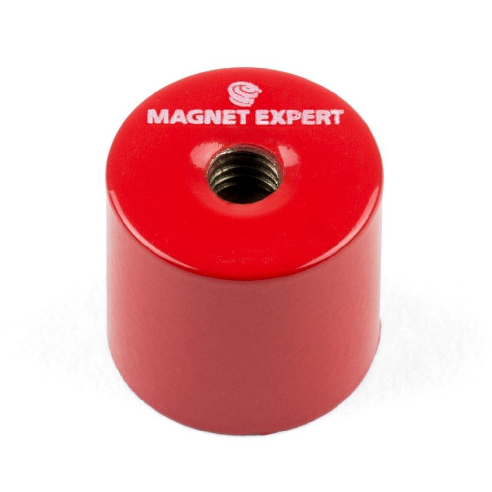 Magnet Expert® 20,5mm diamètre x 19mm Alnico Profond serrage aimant, M6 fileté trou, 4kg force d'adhérence, pack de 4