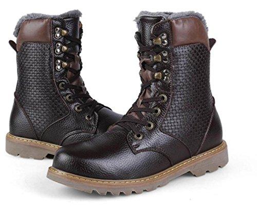E Per Uomini Stivali Di Utensili Alti Inverno Stivali Autunno Vintage Cuoio Brown Martin Aiutare Scarpe Le Per Inghilterra p4ZAqwdF