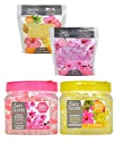 Air Freshener Crystal Beads Cherry Blossom and Hawaiian 12 oz PLUS Refills For each Scents 14.5 oz For Home Office Bathroom