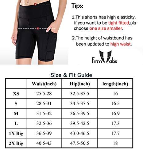 cebcf63b03d902 FIRM ABS Capri Short Legging with Pockets,High Waist Running Workout Pants  for Women Grey
