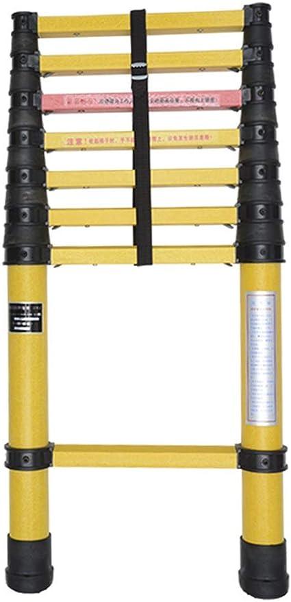 AFDK Fibra de vidrio escalera de extensión de no conducción, Heavy Duty altas escaleras telescópicas de peso ligero con la protección del dedo, 2M-5M,5m: Amazon.es: Bricolaje y herramientas
