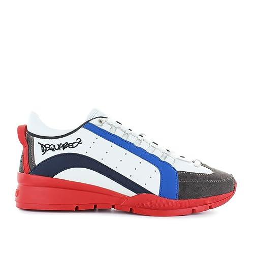 Dsquared2 Scarpe Sneakers Uomo in Pelle Nuove 551 Bianco EU 44  SNM040411570001M1218  Amazon.it  Scarpe e borse 34451b690b2b