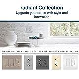 Legrand radiant 15 Amp Receptacle Decorator Outlet, Black, 885BKCC12