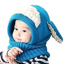 Baby Girls Boys Winter Warm Scarf Shawl Hat Knit Cute Face Cover Balaclava