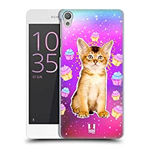 Head Case Designs Abyssinian Kitty Am I Dreaming Real Cats In Artificial Space Hard Back Case for Sony Xperia E5