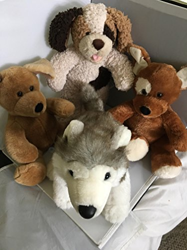 (Set of Four (4) Build A Bear Animals Dogs Huskey, Shaggy & Floppy)