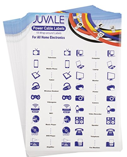 ag - 50-Sheet, 900-Count Stickers for Power Cable ID, Self-Adhesive Pre-Printed Cable Identifier Labels (Printed Label Sheet)