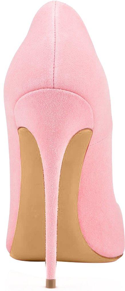 Calaier Damen Schlüpfen Caover 12CM Stiletto Schlüpfen Damen Pumps Schuhe Pink add460