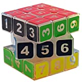 Toys : CuberSpeed Sudoku 3x3 magic cube Transparent 3x3x3 speed cube clear body with numbers Sudoku