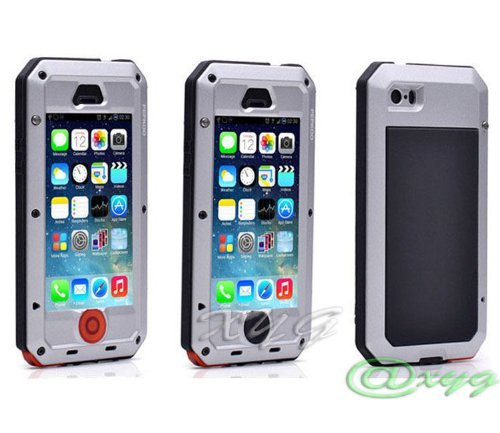 outlet store dd90b 457f4 New Waterproof Shockproof Aluminum Gorilla Glass Metal Military Heavy Duty  Armor Bumper Cover Case for Apple iPhone 5 5S Home Key +Fingerprint ...