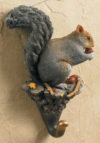 Gray Squirrel Wall Hook - Hook Squirrel