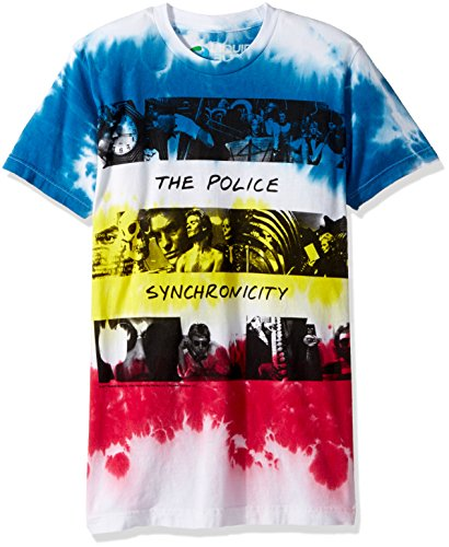 Liquid Blue Men's The Police Sychronicity Tie Dye Short Sleeve T-Shirt, Multi, Small ()