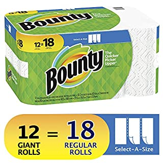 Bounty Select-A-Size Paper Towels, White, 12 Giant Rolls (Equal to 18 Regular Rolls) (B07BH8RGLQ) | Amazon Products