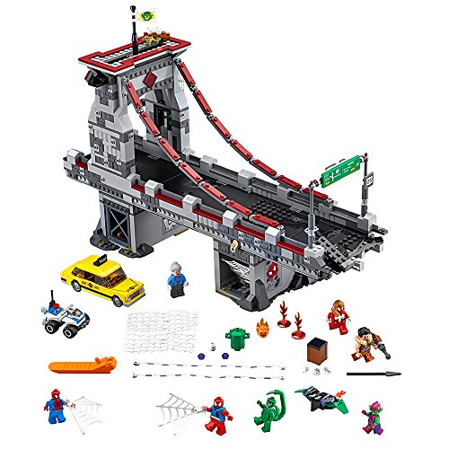 LEGO Marvel Super Heroes Spider-Man: Web Warriors Ultimate Bridge 76057 Spiderman Toy (Ultimate Spider Man Web Warriors Spider Verse)