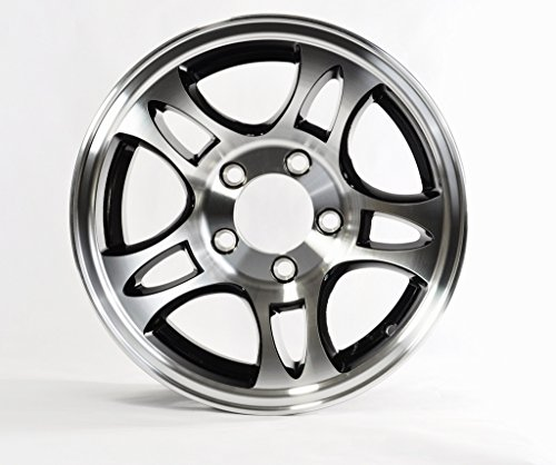 2-Pk Rim 14X5.5 5-4.5 Aluminum Split Spoke T03 Black Mach 3.19 1900# by eCustomRim