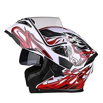 Casco de Moto con Bluetooth Flip Up casco, B