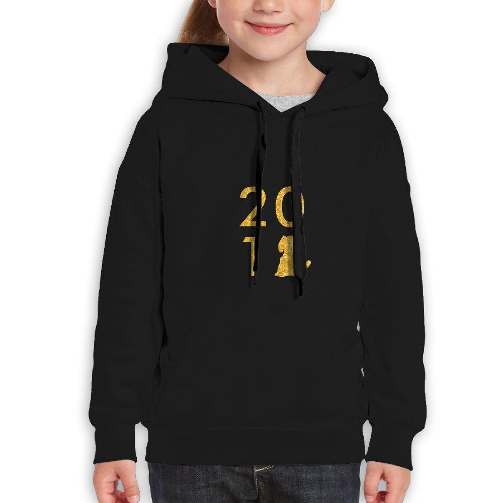 2018 Year Of The Dog Golden Flash Gold Glitter Girls Boys Teens Cotton Long Sleeve Cute Sweatshirt Hoodie Unisex